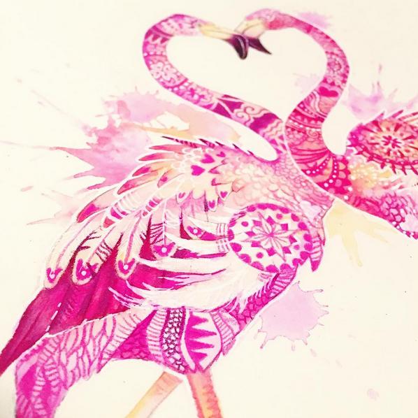 Flamingo Mandala